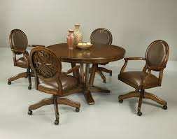 Poker Table Chairs With Casters by Chairs Dining On Casters Modern Concept Kitchen Wheels