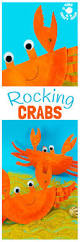 rocking paper plate crab craft kids craft room