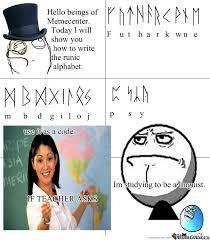 Alphabet Meme - runic alphabet by derpson1234 meme center