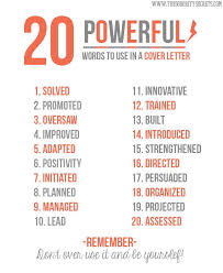 20 powerful words to use in a cover letter imgur