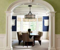 dining room columns eclectic with wine barrel chandelier rod