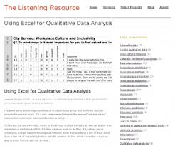 Exle Of Data Analysis Report by Excel For Qualitative Data Analysis Better Evaluation