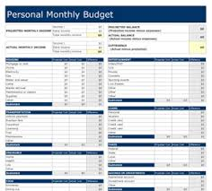 editable free excel money management monthly budget pages