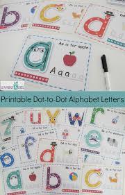 printable alphabet letter cards printable dot to dot alphabet letter charts learning 4 kids