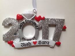 personalized wedding christmas ornament 2017 engagement she said yes will you me