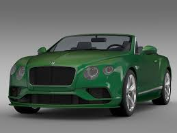 green bentley 2017 bentley continental gt speed convertible 2017 3d model max obj 3ds