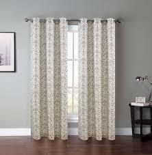 pair of atlantis mocha white window curtain panels w grommets