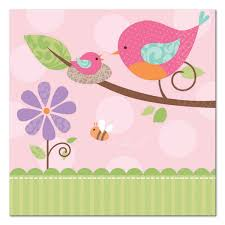 bird baby shower baby bird beverage napkins 16 amys sprinkle