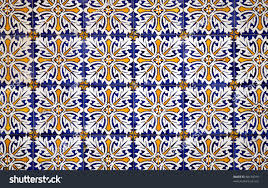 colorful vintage spanish style ceramic tiles stock photo 88134019