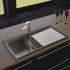 Black Glass Kitchen Sinks Black Stainless Steel Sink Befon For