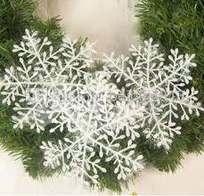 tree decorations items names white snowflake