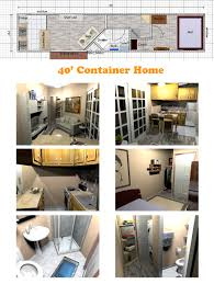 a very space efficient floor plan for a container home container