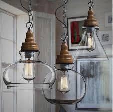 Diy Glass Pendant Light Wooden Modern Diy Ceiling L Light Glass Pendant Lighting Edison