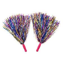multi coloured cheerleading pom poms s