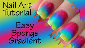 nail art tutorial sponge gradient ombre nails version 2