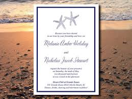 downloadable wedding invitations starfish wedding invite microsoft word template