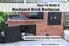 How To Build A Backyard How To Build A Backyard Brick Barbecue