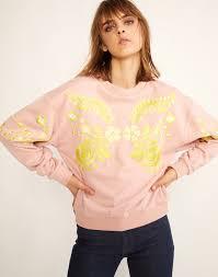 cynthia rowley blouse bleecker embroidered sweatshirt cynthia rowley