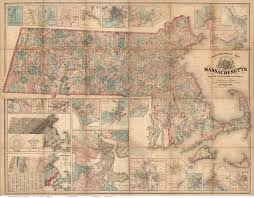 Massachusetts State Map by 1801 Carleton Map Massachusetts State Maps
