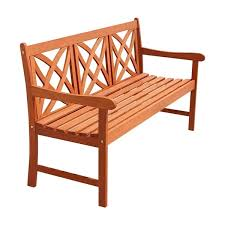 Garden Bench Hardwood Eco Firendly 5 Foot Wood Garden Bench Free Shipping Today