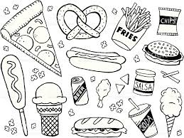 food vector a junk food fast food themed doodle page junk food vector art