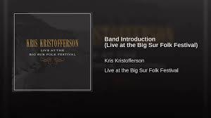 band introduction live at the big sur folk festival