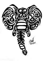 wonderful black tribal elephant head tattoo design tattoos