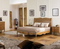 dalila handmade french wooden bed in cherry wood snuginteriors