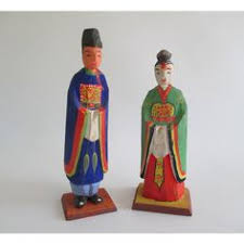 chinese immortals carved statues set of 3 700 liked on