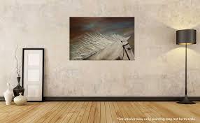 white horse figure painting liz w art gallery