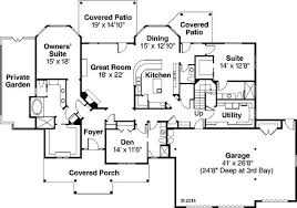 one floor plans with two master suites one house plans with two masters house scheme