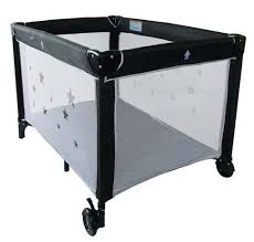 Black Baby Bed Babyco Classic Portable Cot Black The Baby Factory