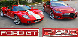 Cost Of 2016 Ford Gt Tesla Model S P90d Ludicrous Vs 700 Horsepower Ford Gt Drag