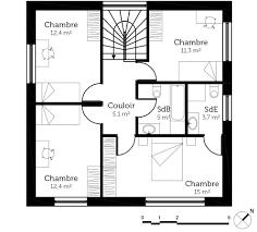 plan maison etage 3 chambres plan maison cube a etage 1 322309 9705 choosewell co