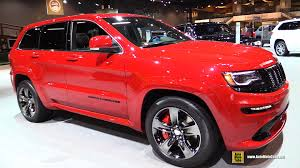 red jeep cherokee 2015 jeep grand cherokee srt red vapor exterior and interior