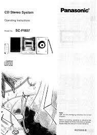 panasonic stereo system sc pm07 user guide manualsonline com