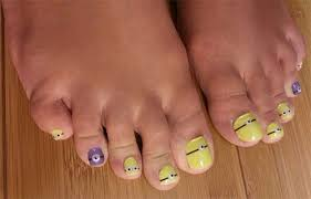 minion toe nail designs ideas trends stickers 2015
