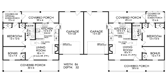 Duplex With Garage Plans Duplex Plan Chp 18935 At Coolhouseplans Com