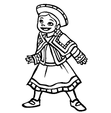 mexican wearing mexican dress coloring pages