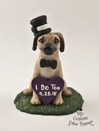 cake topper with dog dog wedding cake toppers my custom cake topper