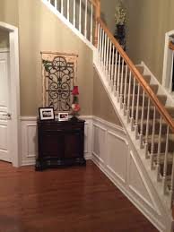 foyer chair rail and picture frame molding home pinterest