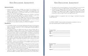 Non Disclosure Statement Template by Non Disclosure Agreement Template Free Agreement Templates