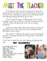 meet the teacher bio such a cute idea kindergarten pinterest
