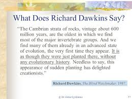 Richard Dawkins Blind Watchmaker What Does Science Say About Creation Part Ppt Online Download