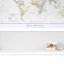 World Map Poster India by Personalised Classic World Map By Maps International