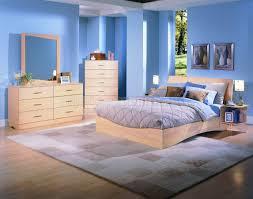 Bedroom Sets Natural Wood Wood Finish Modern Platform Bed W Optional Case Pieces