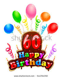 60 years birthday happy birthday sign form cake banner stock vector 544784350