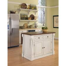 furniture cozy white wooden kitchen island in parquet flooring