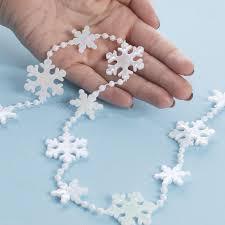 white garland miniature white snowflake and bead garland christmas garlands