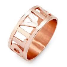 name ring cut out block gold name ring custom name ring